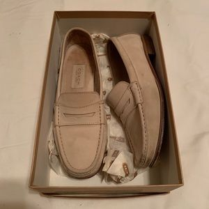 Coach leather nude loafers - Size 7.5